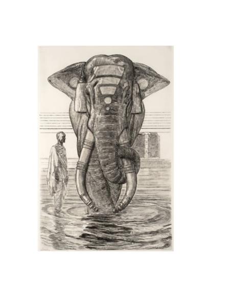 Éléphant du temple de Siva (Indes anglaises)