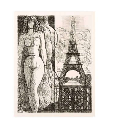 Nude at the Eiffel Tower