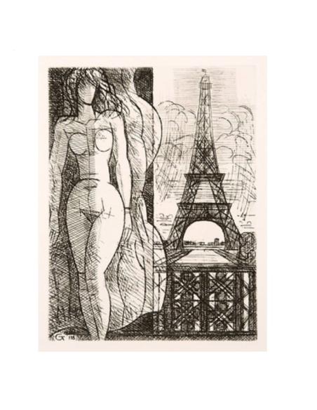 Desnudo en la Torre Eiffel