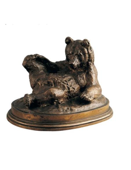 Bear lying on its back by Antoine-Louis Barye