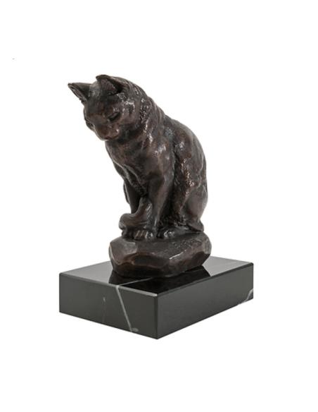 Gato sentado por Antoine-Louis Barye
