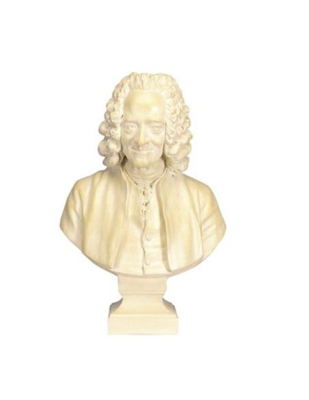 Busto de Voltaire con peluca por Jean-Antoine Houdon