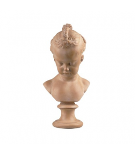 "Girl's bust called ""The little girl with mats"" by Jacques François Saly"