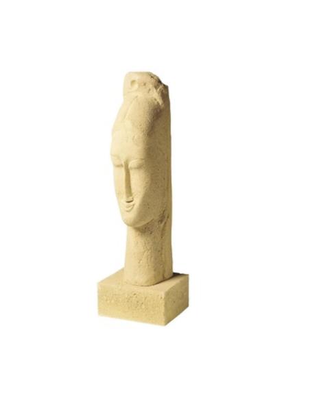 Cabeza de mujer por Modigliani
