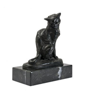 Cat seated by Emmanuel Frémiet