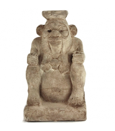 Egyptian god bes statue