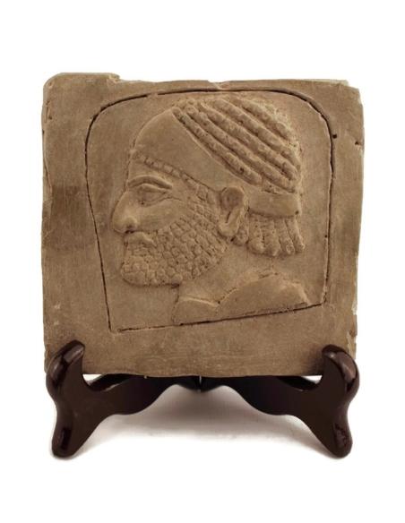 Tête esclave Assurbanipal bas-relief Palais Ninive