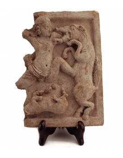 Krishna matando al demonio caballo Keshi