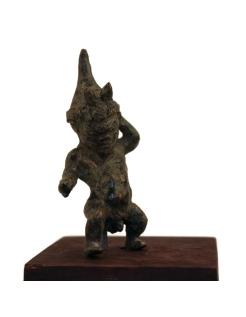 Estatuilla griega de un enano bailarín o pigmeo
