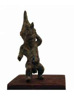 Statuette grecque d'un nain ou d'un pygmée dansant