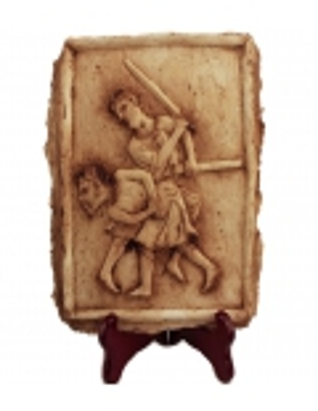 Bas relief scène de gladiateurs romains