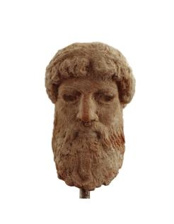 Máscara griega de teatro griego que representa a Zeus
