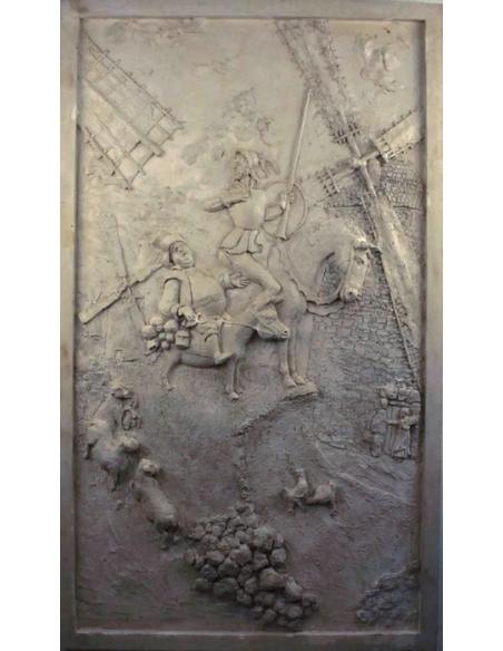 Bas relief Don Quichotte de la Mancha - couleur blanc cassé