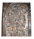 Coffee table style of a Mayan royal stele