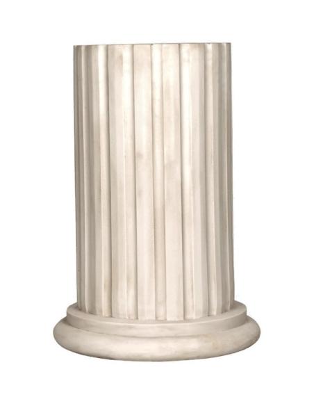 Demi colonne corinthienne à cannelures