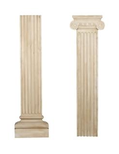 Pilastra plana decorativa