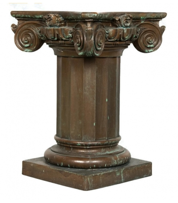 Table base with capitel in bronze color