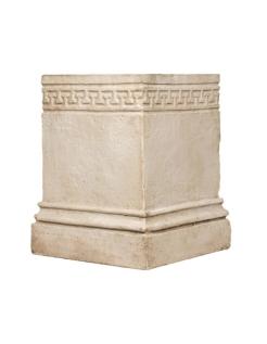 Socle avec motifs style grec classique