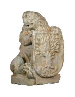 León escudo derecha