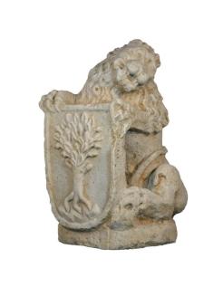 León escudo izquierda