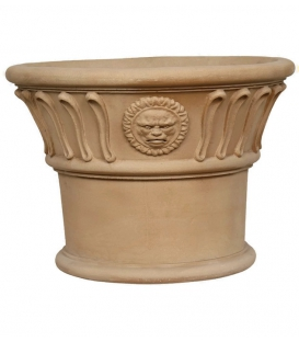 Small planter with sun motifs