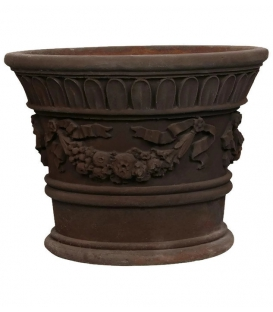 Small planter pot with garlands