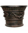 Planter pot with garlands