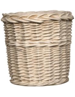 Cache-pot style rustique décor en rotin