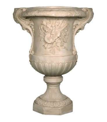 Vase with musical instrument decorations