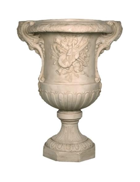 Vase avec décorations instruments de musique