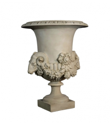 Vase with rams
