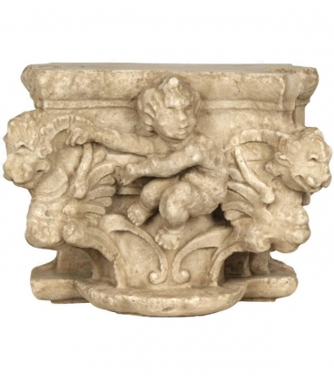 Metope the child with dragons