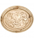 Medallion bathers with sleeping dog