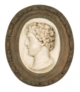 Young man's medallion with beard