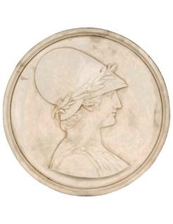 Medallón de Atenea diosa de la sabiduría