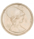 Medallion of Athena goddess of wisdom