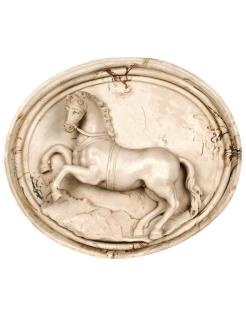 Médaillon de cheval cabré