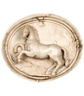 Rearing horse medallion