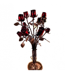 Wrought iron bouquet of flowers