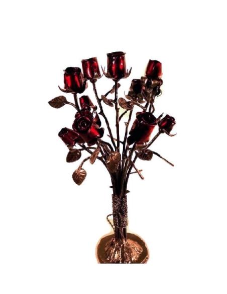 Bouquet de boutons de rose en fer forgé