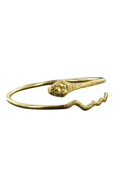 Pulsera Víbora con cuernos de oro