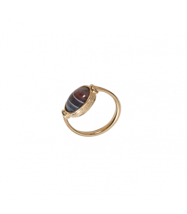 """Carthage"" golden plated ring"