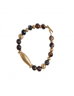"Bracelet doré agate ""Simashki"""