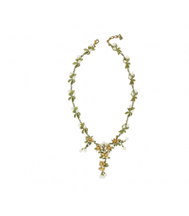 """Bud and leaf"" Necklace"