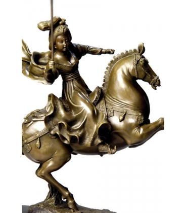 Chinese princess playing polo by Miguel Fernando López (Milo)