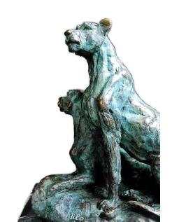 Deux lionnes, deux soeurs par Miguel Fernando López (Milo)