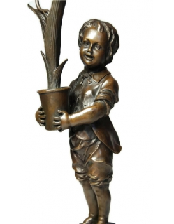 Candelabro niño con tulipanes Modernismo de Miguel Fernando López (Milo)