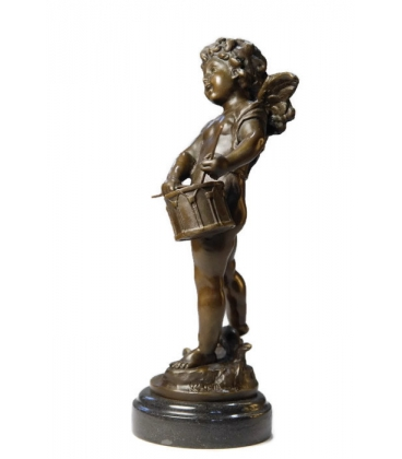 Little angel with a drum by Hippolyte François Moreau
