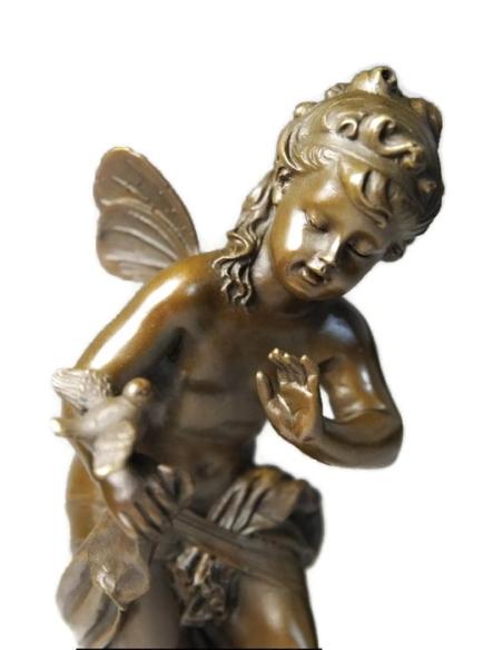Petit ange avec l'oisillon par Hippolyte François Moreau