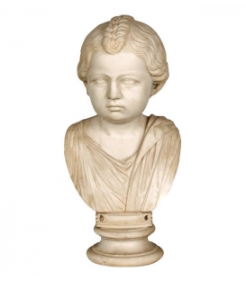Bust of a Roman girl in a toga